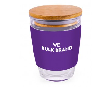 350ml Custom Branded Glass Cups With Lids
