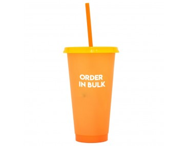 Colour Change Promotional Cups With Straws