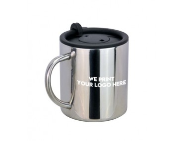 Engraved Metal Coffee Mug