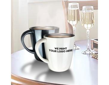 Glossy Metal Personalised Coffee Mug