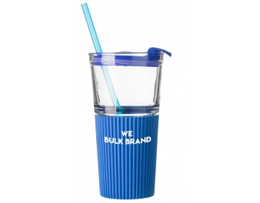 Large Retro Drinking Cups With Straws