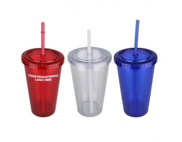 Printed Plastic Cup with Lid
