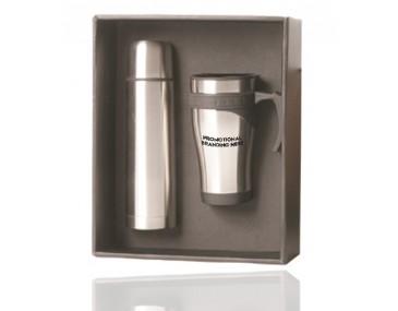 Promotional Gift Set Mug and Flask
