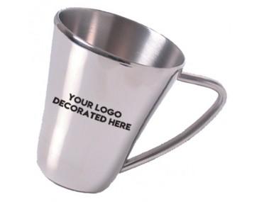 The Falco Stainless Steel Logo Mug