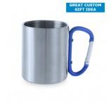 210ml Custom Metal Mugs With Clip Handles
