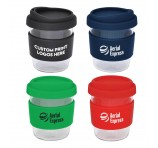 290ml Compact Glass Travel Mugs