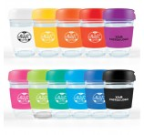 345ml Glass Reusable Promo Cups Hard Lids