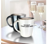 Glossy Metal Personalised Coffee Mug