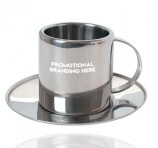 Metal Cup and Saucer Gift Set