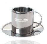 Metal Cup and Saucer Gift Set