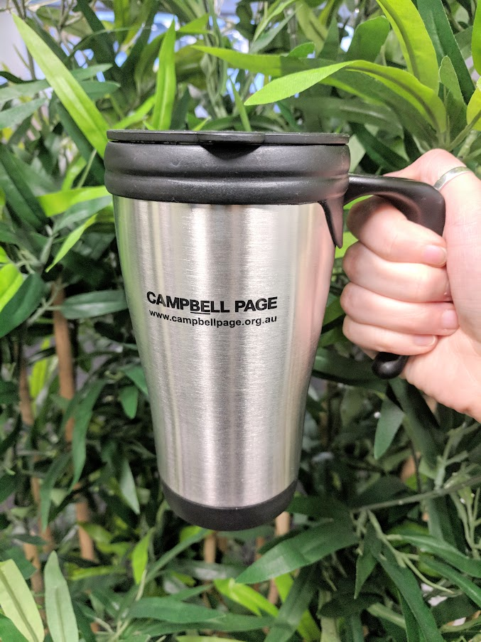 Mug flask in the bush